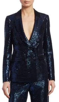 Emporio Armani Double-Breasted Sequin Jacket