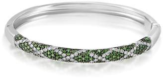 Fratelli Lani 18K White Gold Diamond & Tsavorite Bangle Bracelet