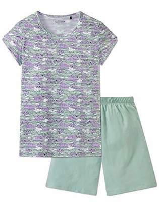 Schiesser Girl's Mädchen Anzug Kurz Pyjama Sets