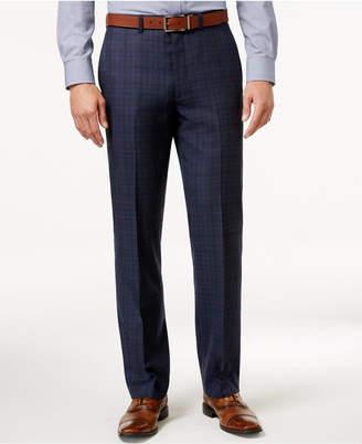 Ryan Seacrest Distinction Men's Modern Fit Blue Flannel Glen Plaid Suit Pants, Only at Macy's $175 thestylecure.com
