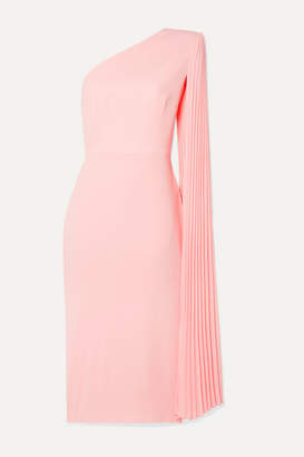 Alex Perry Lorin One-shoulder Crepe Midi Dress - Pastel pink
