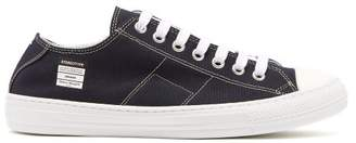 Maison Margiela Stereotype Canvas Low Top Trainers - Mens - Dark Blue