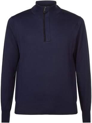 Suede Zip Sweater