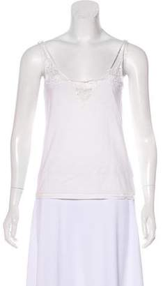 Chloé Lace-Trimmed Sleeveless Top