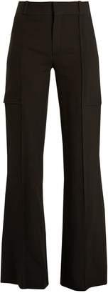 Chloé Wide-leg crepe trousers