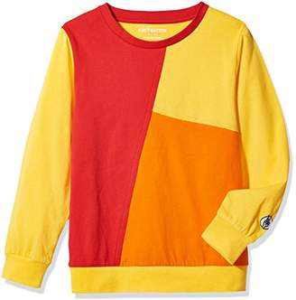 Kid Nation Kids' Long Sleeve Contrast Patchwork T-Shirt for Boys or Girls S
