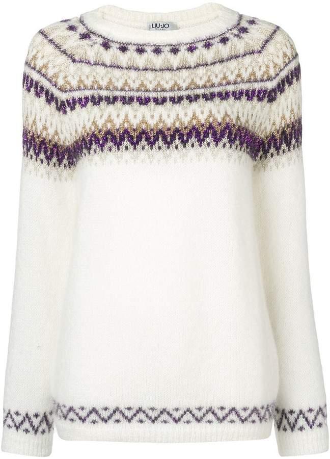 intarsia knit jumper