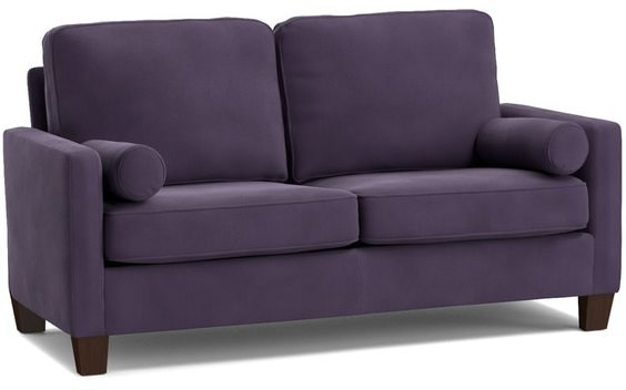 Portfolio Espen Plum Purple Velvet SoFast Small Space Living Sofa