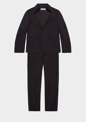 Versace Satin Stripe Wool Suit