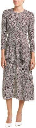 A.L.C. Zandra Silk Midi Dress