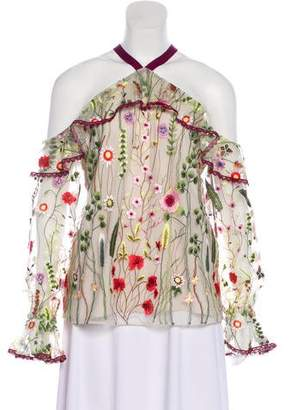 Alexis Embroidered-Yarn Blouse