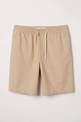 H&M Knee-length Cotton Shorts - Beige