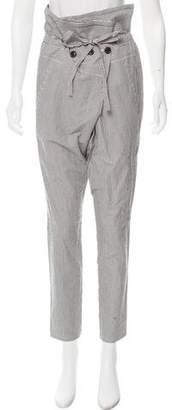 Kimberly Ovitz Striped High-Rise Pants