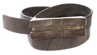 Rick Owens Distressed Leather Belt