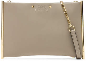 Chloé Roy Smooth Calfskin Clutch in Pastel Grey | FWRD