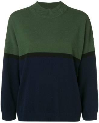 Sonia Rykiel two-tone knit jumper