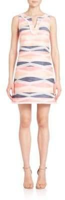Trina Turk Sleeveless Jacquard Fringe Dress