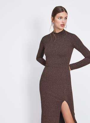 3b28937f28 Miss Selfridge Bronze High Neck Pencil Dress