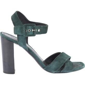 Celine Green Suede Sandals