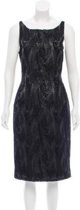 Fendi Embroidered Metallic Dress