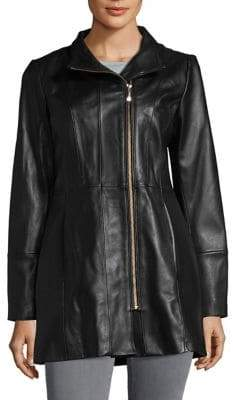 Cole Haan Long Leather Jacket