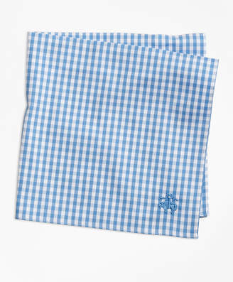 Brooks Brothers Supima Cotton Gingham Pocket Square