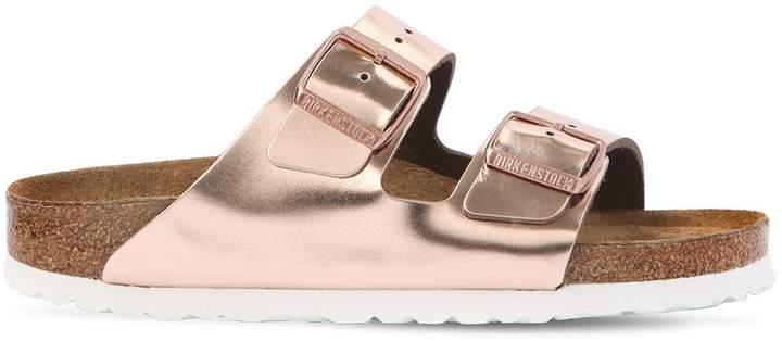 Arizona Metallic Leather Sandals