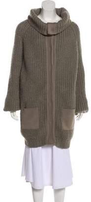 Balenciaga Wool-Blend Knit Cardigan