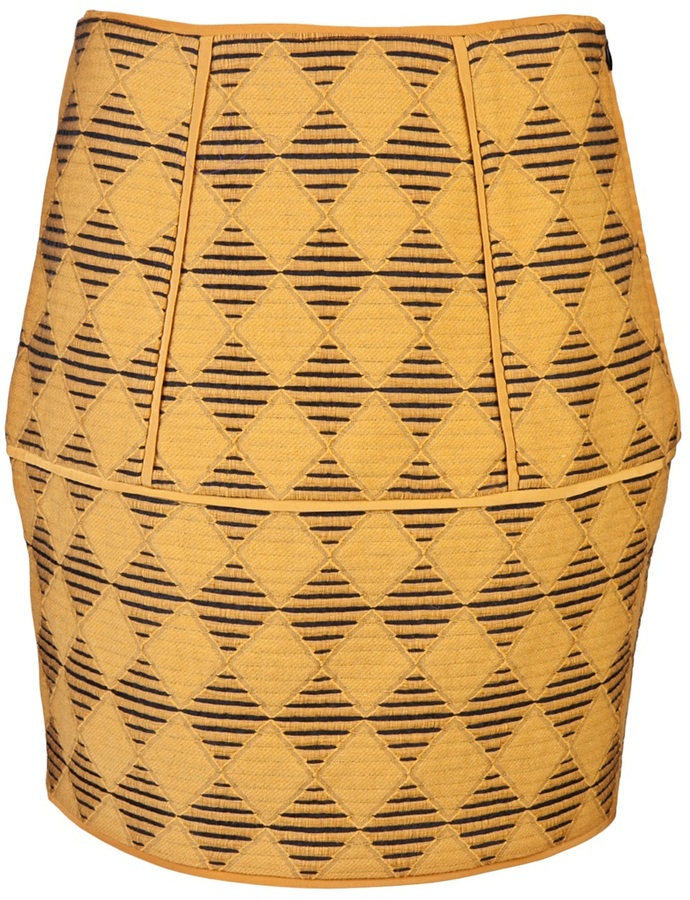 Tibi Diamond jacquard tulip skirt