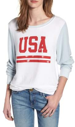 Wildfox Couture USA Baggy Beach Jumper Pullover