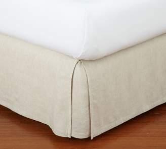 Pottery Barn Belgian Flax Linen Bed Skirt - Natural