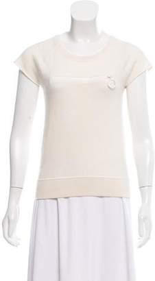 Louis Vuitton Short Sleeve Cashmere Top