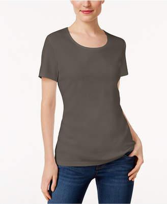 Karen Scott Scoop-Neck T-Shirt, Only at Macy's $9.98 thestylecure.com