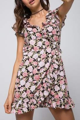 Motel Rocks Floral Wrap Dress