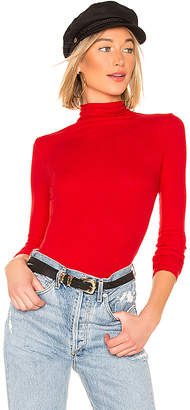 Enza Costa Rib Fitted Turtleneck