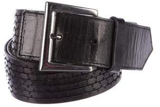 Barbara Bui Leather Buckle Belt