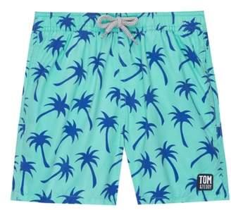 Trunks Tom & Teddy Palm Print Swim