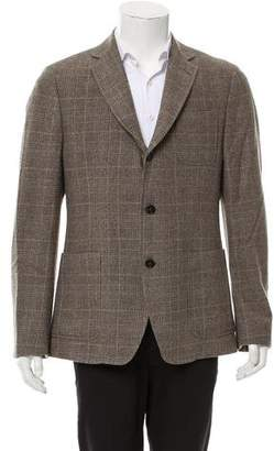 Billy Reid Plaid Three-Button Jacket