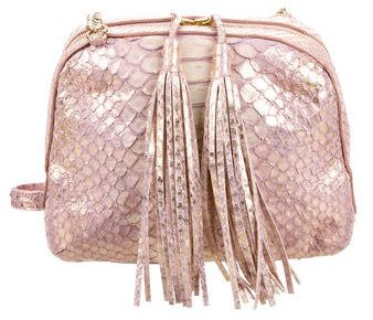 Carlos Falchi Metallic Python Bag