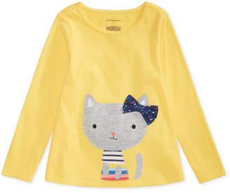 First Impressions Toddler Girls Cat-Print Cotton T-Shirt