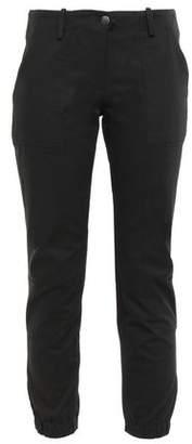 Veronica Beard Field Cropped Cotton-blend Twill Skinny Pants