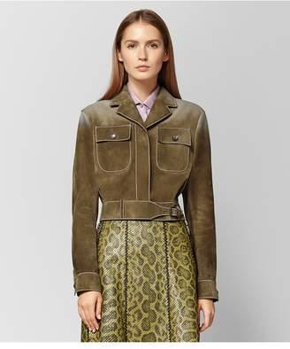 Bottega Veneta Bronze Suede Jacket