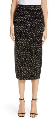 Emporio Armani Polka Dot Stretch Pencil Skirt