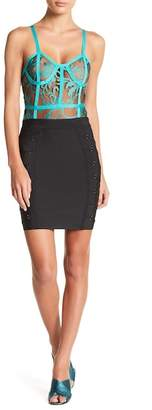 Wow Couture Grommet Detailed Bandage Skirt
