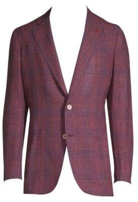 Isaia Summertime Plaid Blazer
