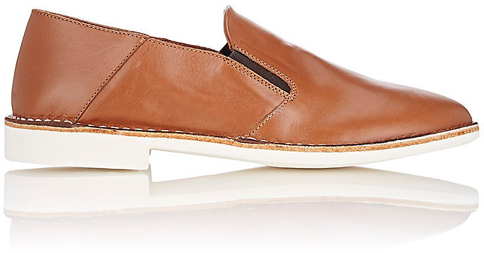 Barneys New York Barneys New York BARNEYS NEW YORK MEN'S LEATHER VENETIAN LOAFERS-BROWN SIZE 8.5 M
