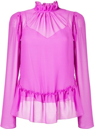 See by Chloe ruffled sheer blouse