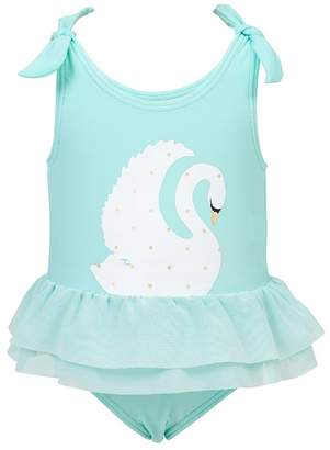 Snapper Rock Toddler Swan Tulle Skirt One Piece