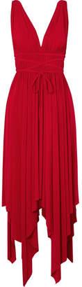 Norma Kamali Goddess Ruched Stretch-jersey Maxi Dress