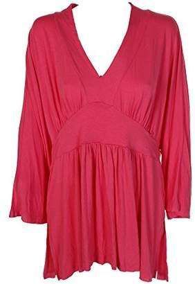 Melissa McCarthy Women's Plus Size Kimono Sleeve V-Neck Empire Waist Top